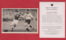 West Germany v Ireland Kohlmeyer Kaiserslautern Ringstead Sheffield United A108